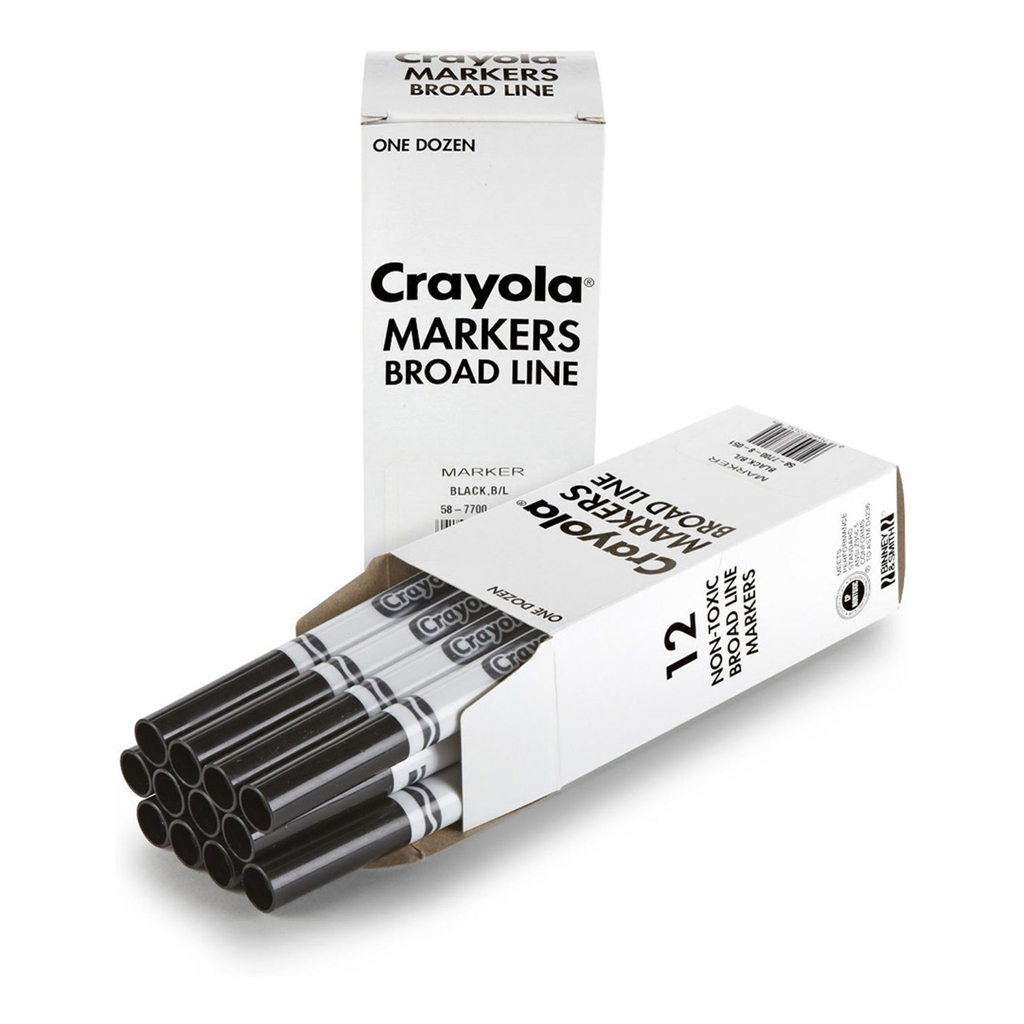 CRAYOLA BROAD LINE MARKER BLACK