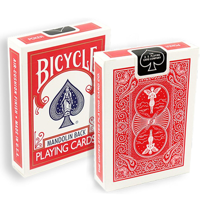 BICYCLE MANDOLIN BACK - rød