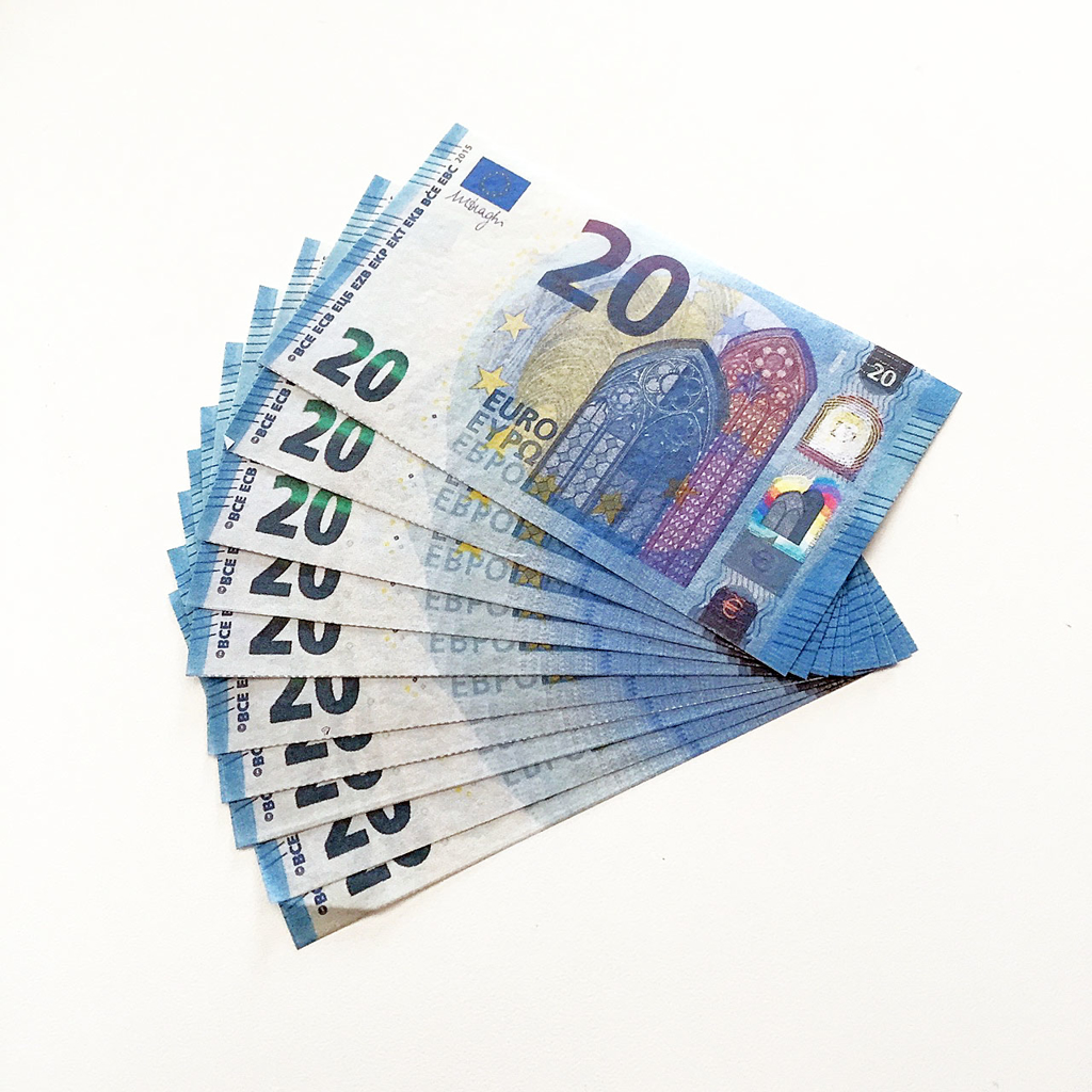 FLASH EURO BILLS - 10 stk.
