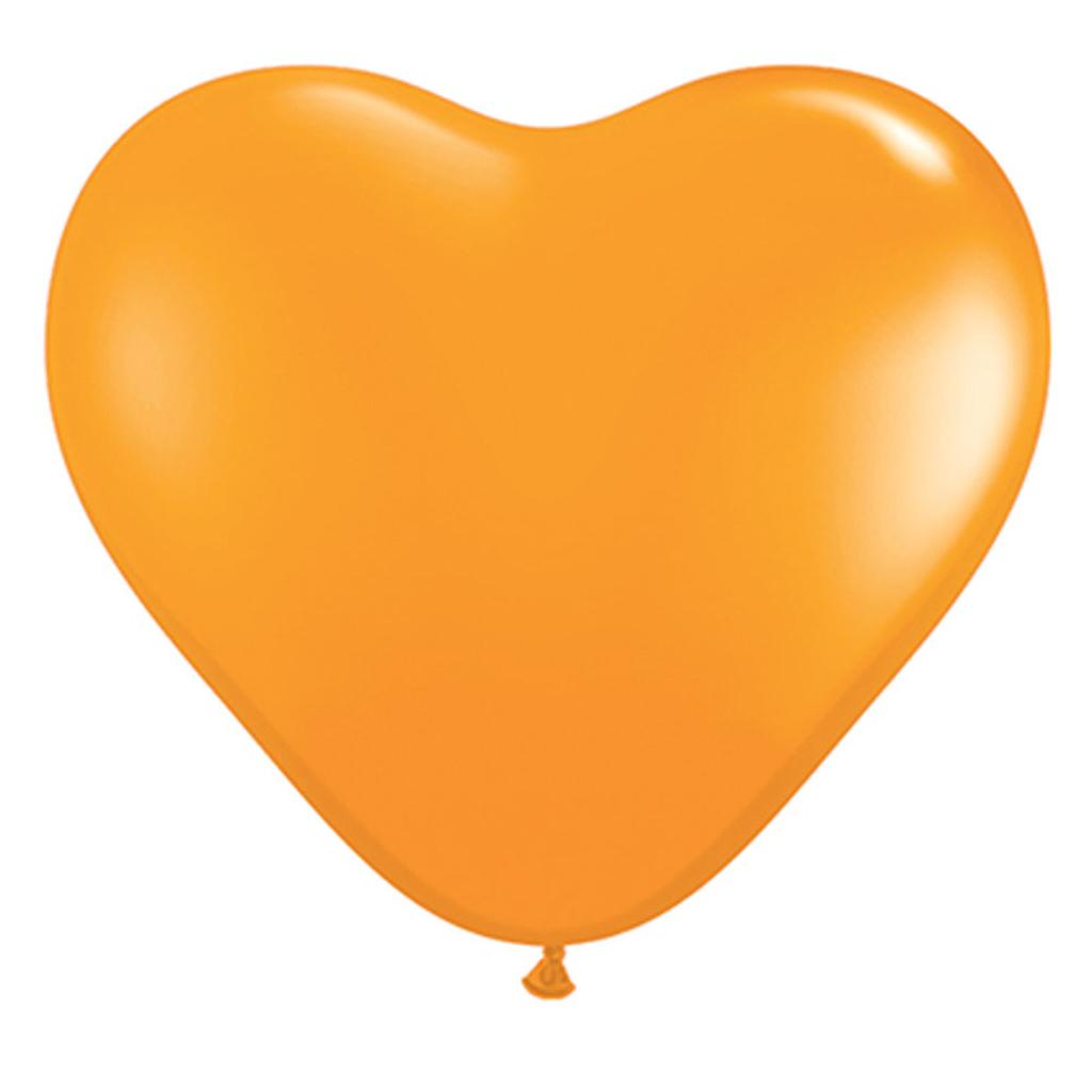"""6"""" BALLOON HEARTS - 100 pcs."""