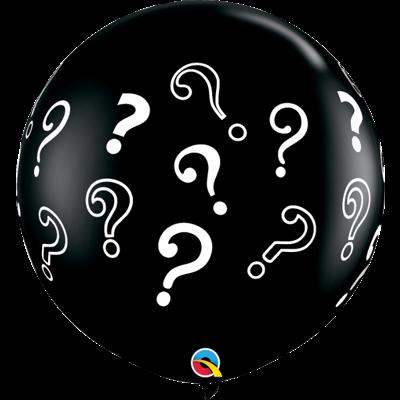 QUESTION MARKS 3' BALLOON - 2 pcs.