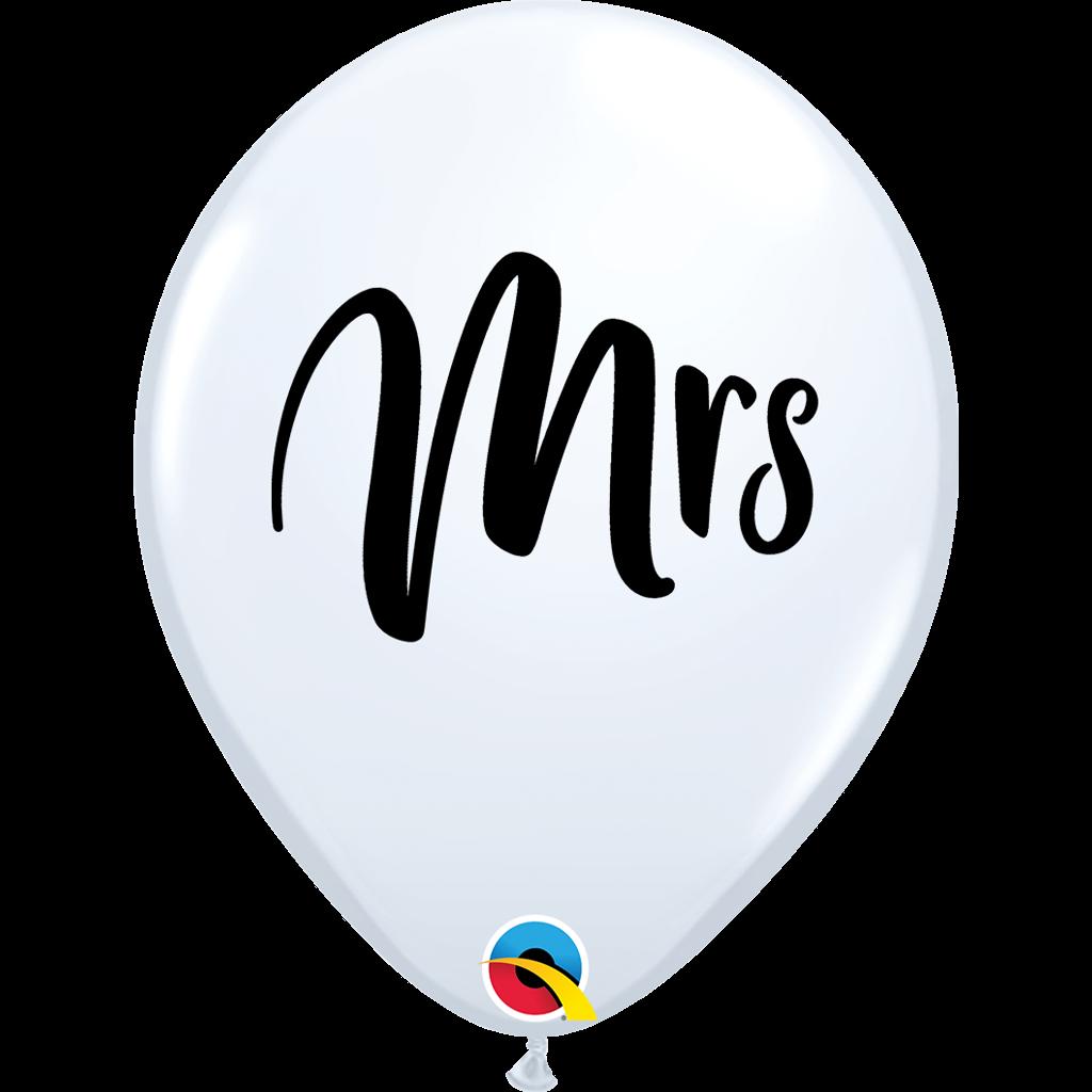 """MRS 11"""" BALLOONS - 25 pcs."""