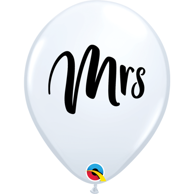 "MRS 11"" BALLOONS - 25 pcs."