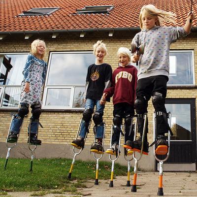 ACTOY STYLTER - grøn - børn 5-8 år