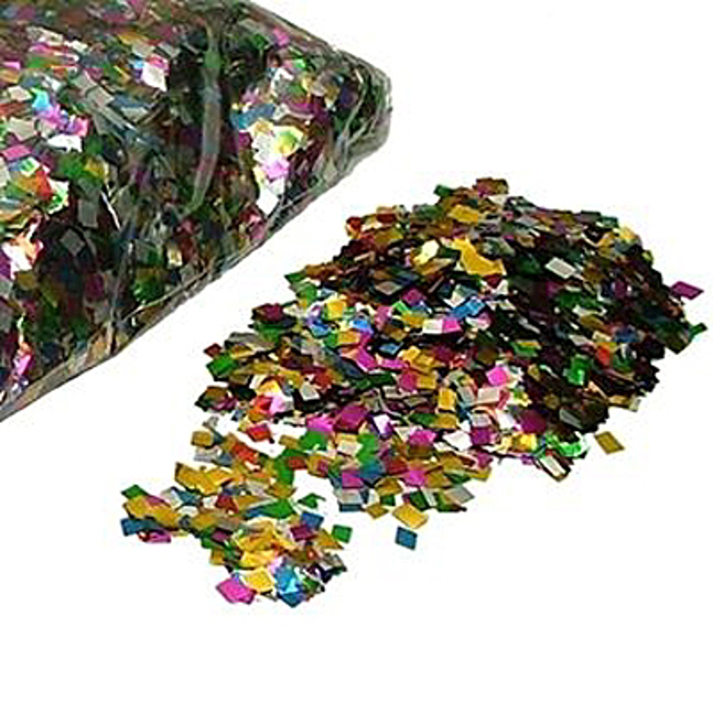 MIX CONFETTI - 6 x 6 mm. - 100 gram