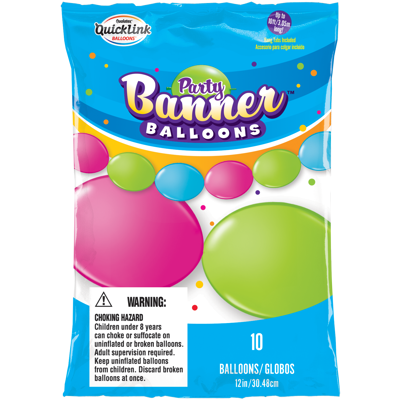 PARTY BANNER BRIGHT BALLOONS