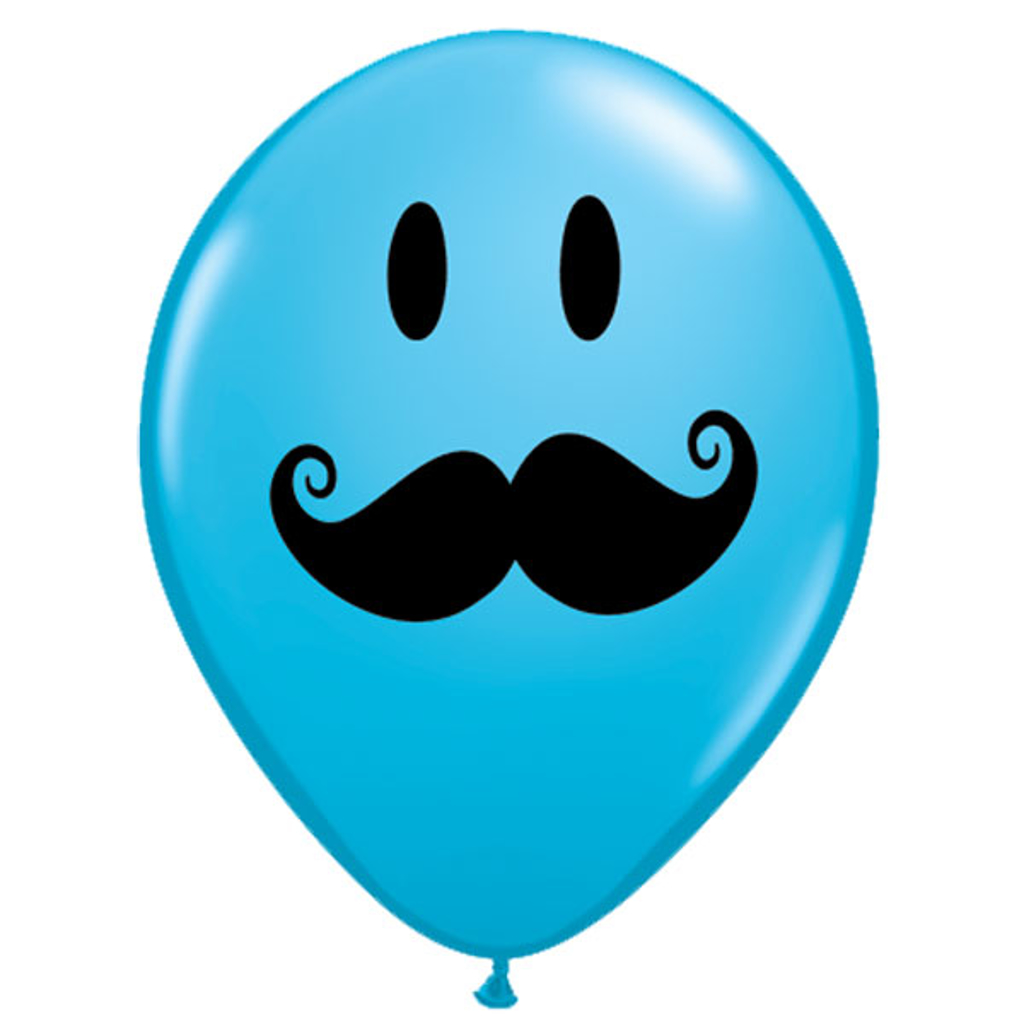 "5"" SMILE FACE MOUSTACHE BALLOON"
