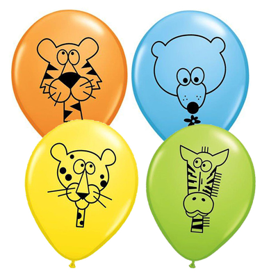 JUNGLE ANIMAL BALLOONS - 25 stk.