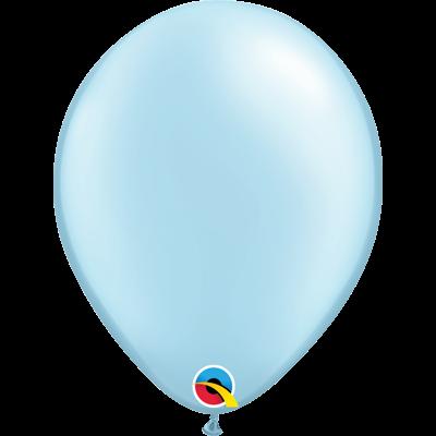 "PEARL LIGHT BLUE BALLOON 11"""