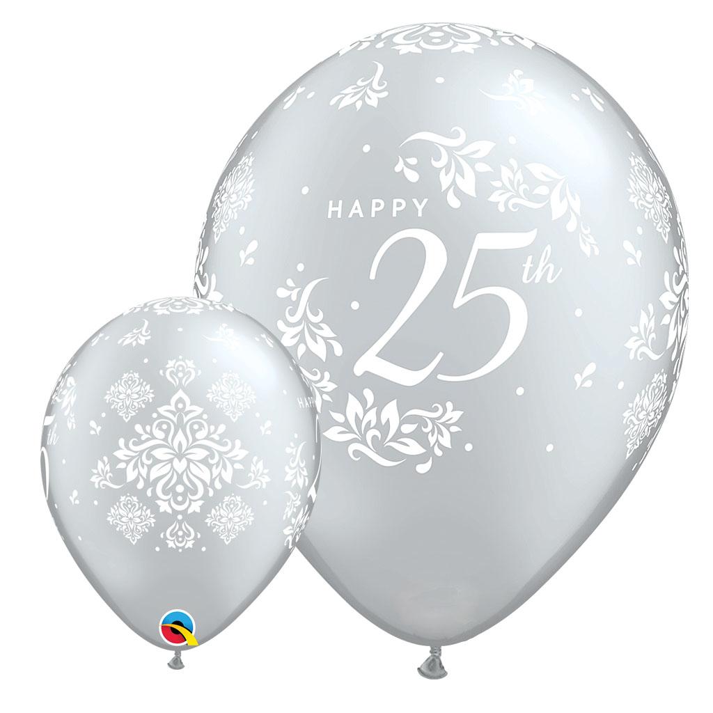 25TH ANNIVERSARY BALLOONS - 25 pcs.