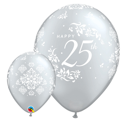25TH ANNIVERSARY BALLOONS - 25 pcs.