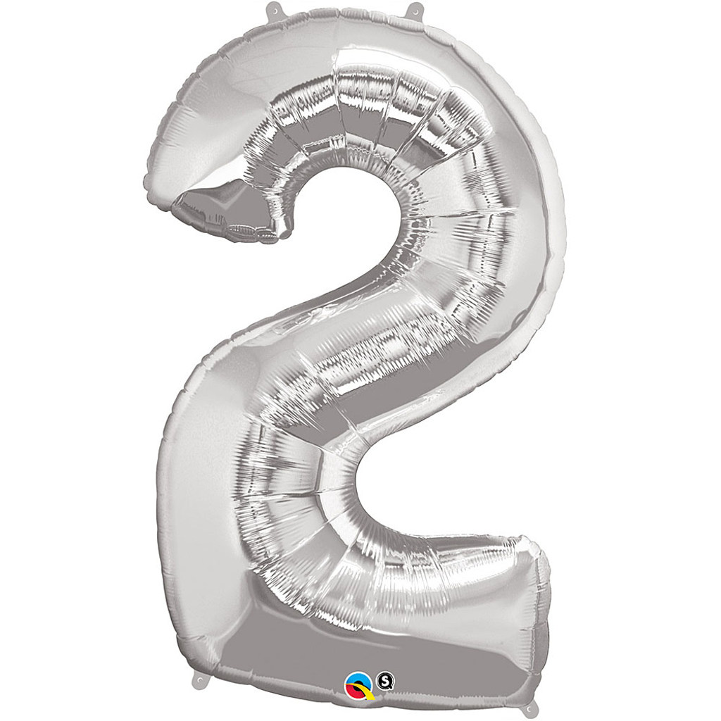 NUMBER TWO FOIL BALLOON - 85 cm.