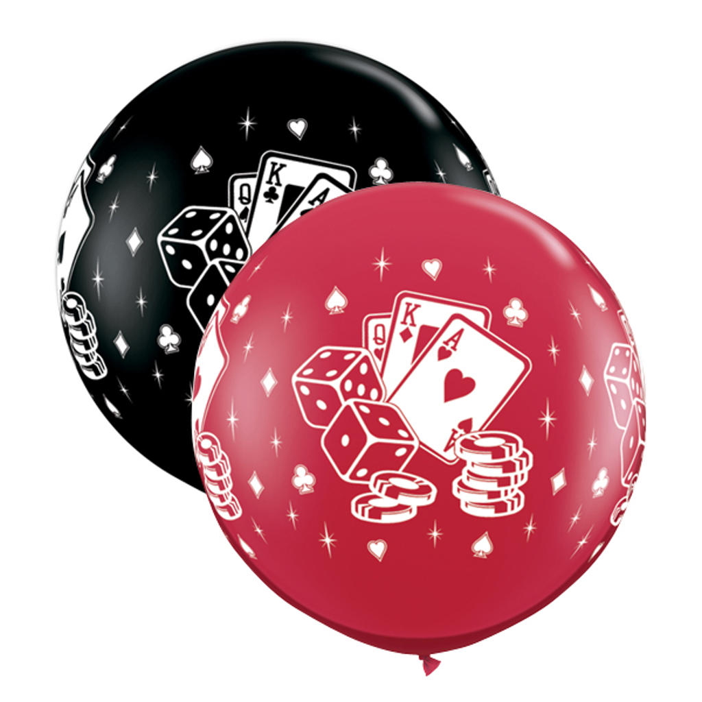 CASINO DICE & CARD BALLOON 3'