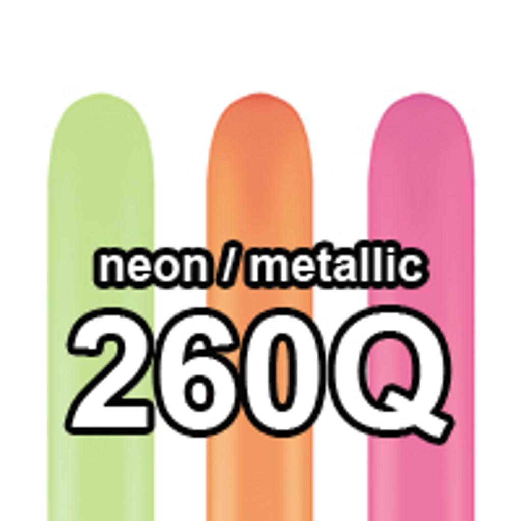 FIGURBALLONER Neon / Metal - 100 stk.