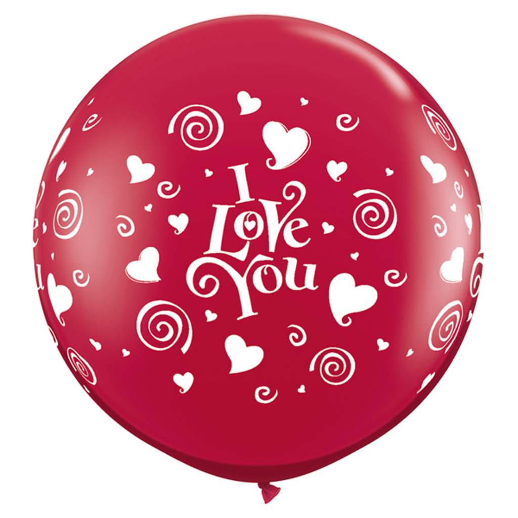 I LOVE YOU BALLOON 3' - 2 pcs.
