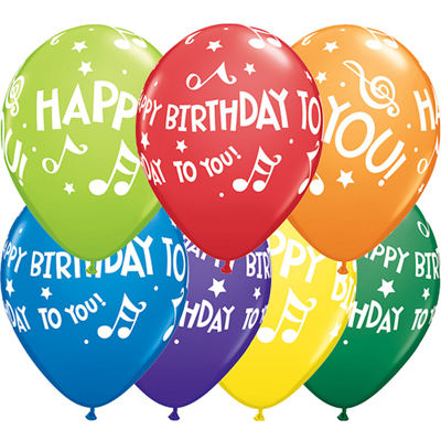 HAPPY BIRTHDAY TO YOU MUSIC BALLOONS - 25 pcs.