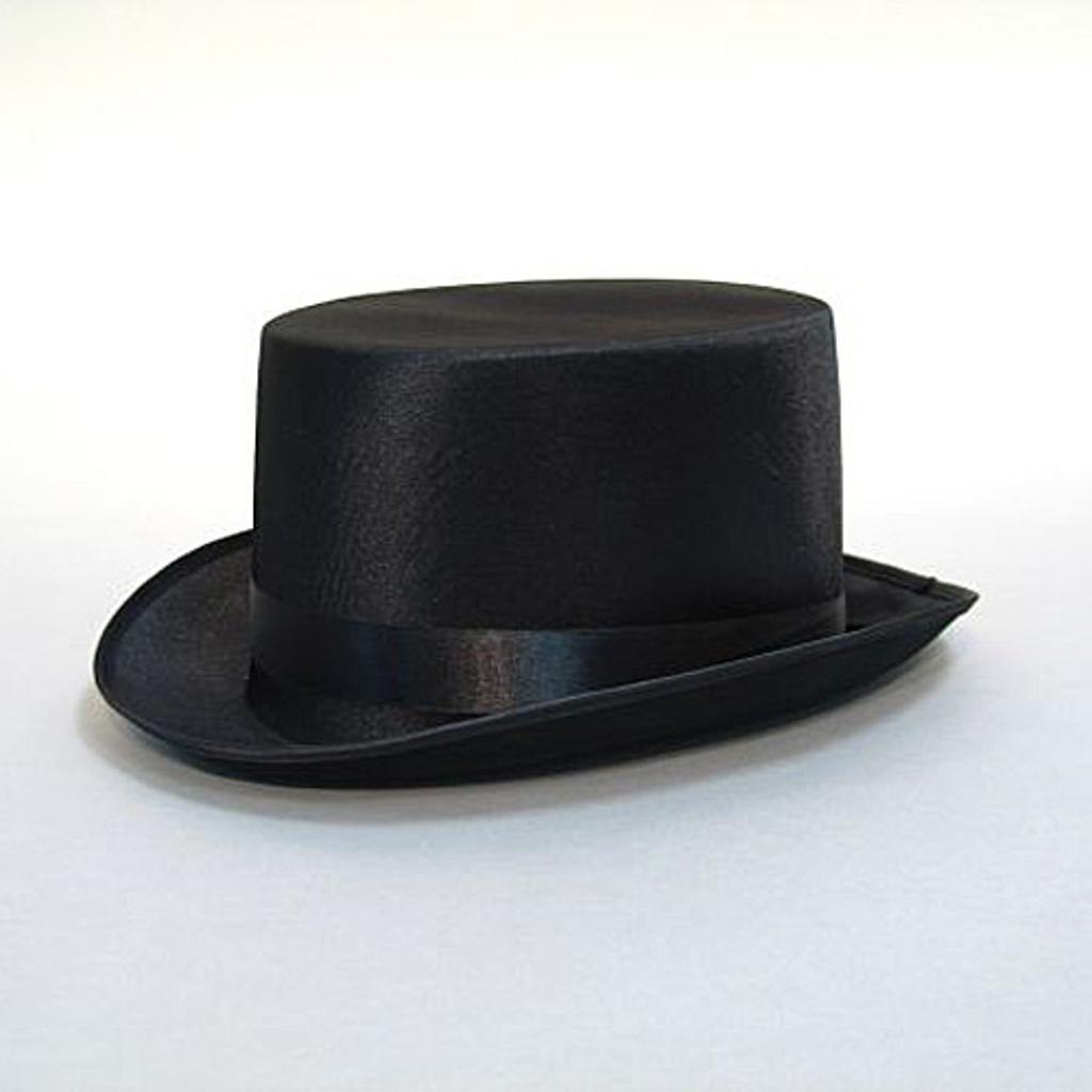 TOP HAT - sort satin