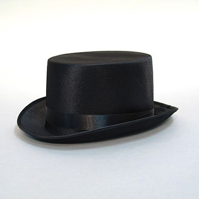TOP HAT - sort satin