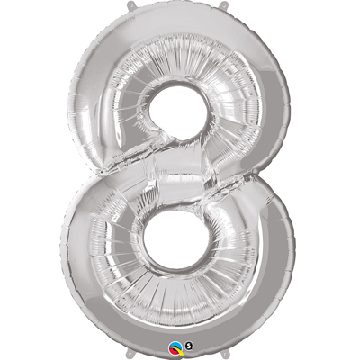 NUMBER EIGHT FOIL BALLOON - 85 cm.