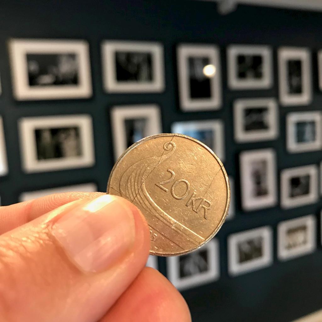 NORSK FOLDE-MØNT - 20-krone