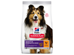 HILL'S SCIENCE PLAN ADULT MEDIUM  SENSITIVE STOMACH & SKIN HUNDEFODER
