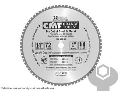 RUNDSAVKLINGE 355X25,4X2,2/1,8 MM TIL METAL/ALU
