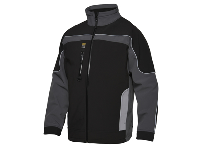 SOFTSHELLJAKKE 3-FARVET GREY STR XL