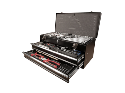 Toolbox with 94 pcs.