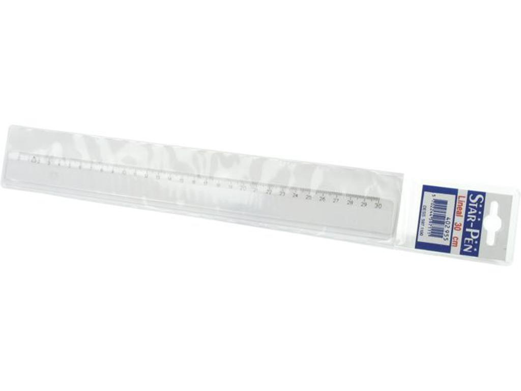 Lineal plast 30 cm klar