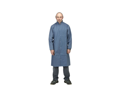 Dacron coat with push button anthracite