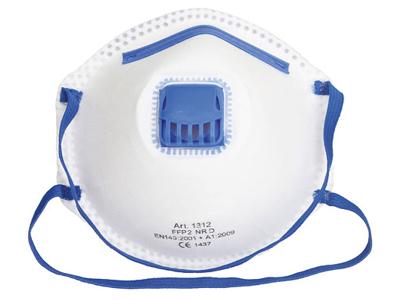 Støvmaske FFP2 med ventil 10 stk.