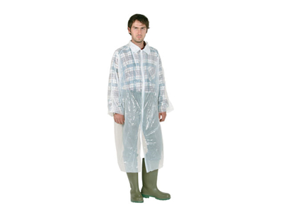 Disposable visitor coat white