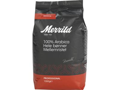 Kaffe Merrild hele bønner 1000 gram