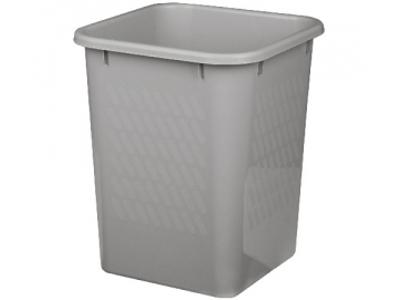 Plast papirkurv 25 L 390x330x330 mm grå
