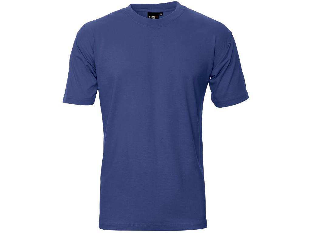 T-shirt kongeblå 100% bomuld