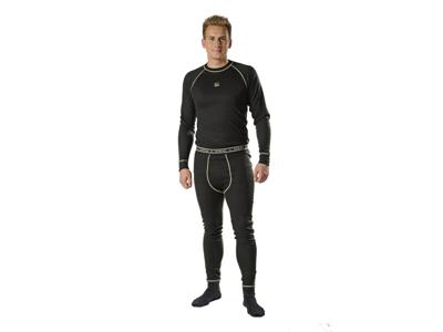 Undertøj Poly Dacron trøje sort