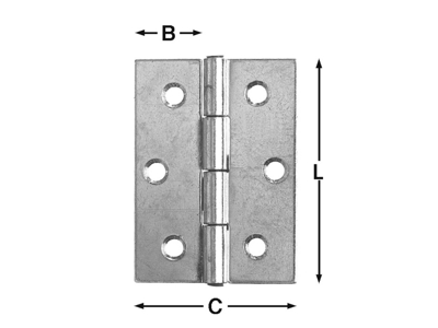 Edge Hinge 89x25 mm package with 2 pcs.