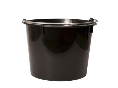 Plastic Bucket black  20 ltr.