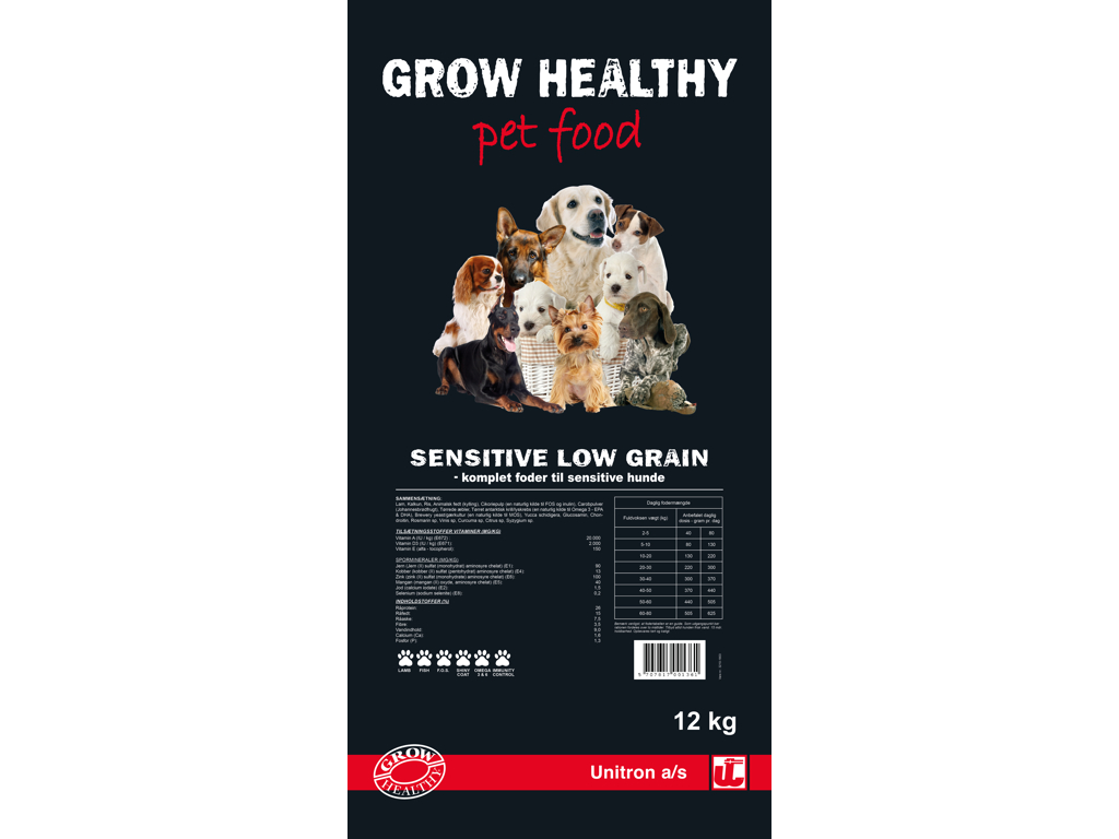 Grow Healthy Sensitive Low Grain 12 kg