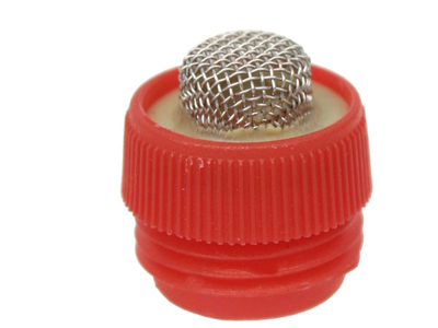 Loose filter with threads for drinking nipple