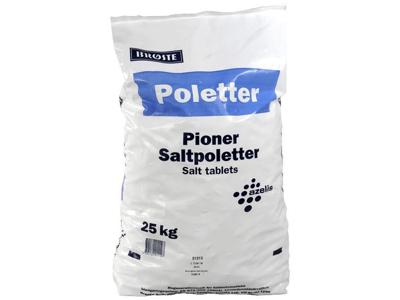 Salttabletter 25 kg.