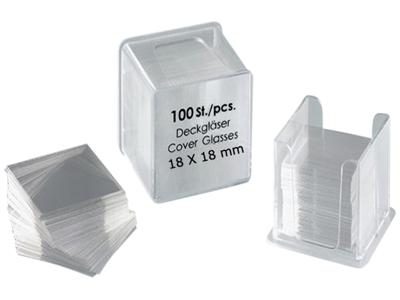 Dækglas 18x18 mm pk. med 100 stk.