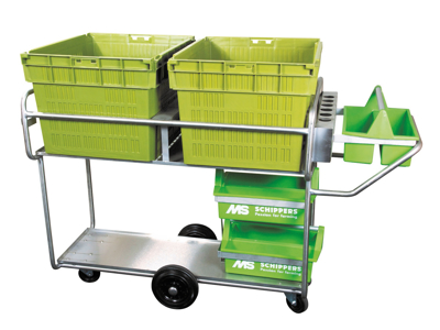 Treatment trolley for farrowing Shippers