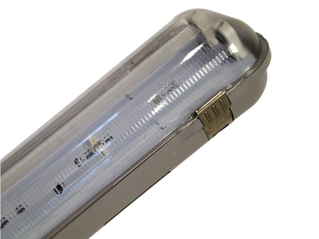 Armatur IP65 dobbelt til LED