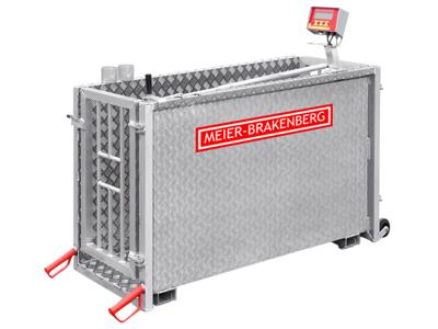 Pig scale electronic/aluminum/Meier Brakenberg