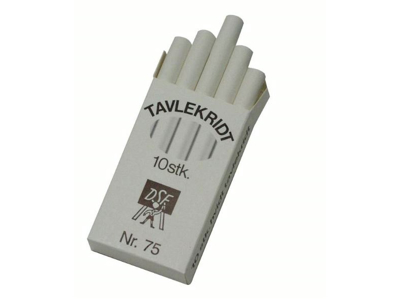 Black board chalk - package with 10 pcs.