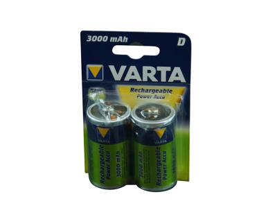 Batteri LR20 genopladeligt 2 stk.