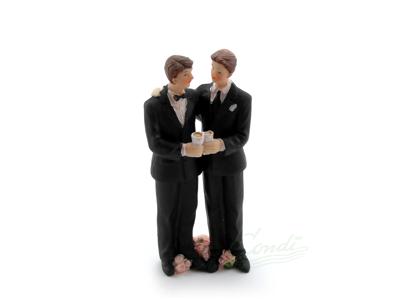 Brudepar kagefigur mænd 13,3 cm