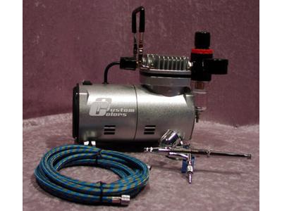 Airbrush kit I Kompressor+Pistol+slange