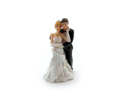 Brudepar kagefigur 9,5cm